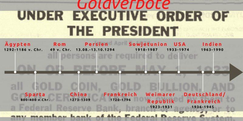 Schreckgespenst Goldverbot: Fiktion oder wahrscheinliches Szenario?